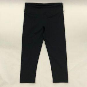 Fabletics Black Crop Leggings Cutouts Design